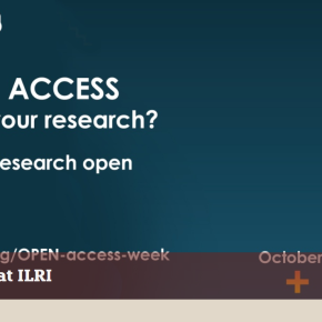 Celebrating the open access week at ILRI